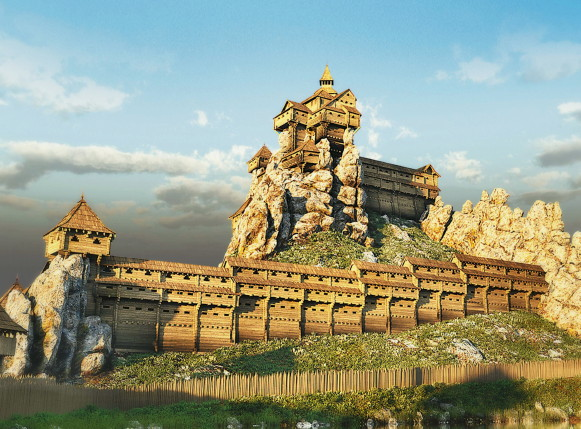 Image - The Tustan fortress (3D reconstruction).