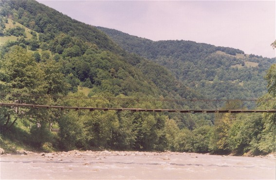 Image - A bridge over the Tysa River near Rakhiv.