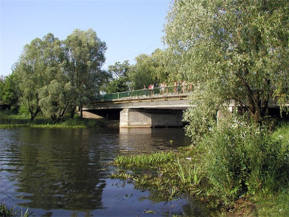 Image - A bridge on the Udai River in Pryluka.