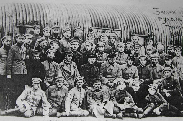 Image - Ukrainian Galician Army soldiers at the internment camp in Tuchola, Poland.