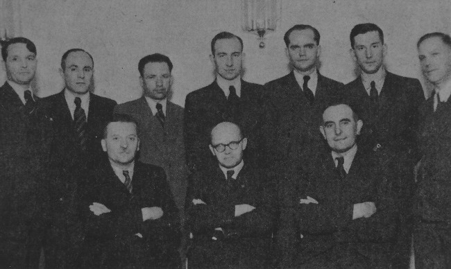 Image - The presidium of the Ukrainian Central Committee in 1943. Sitting, f-l, K. Pankivsky, V. Kubijovyc, V. Hlibovytsky; standing: Z. zeleny, Rev. M. Sopuliak, P. Isaiv, A. Figol, O. Tarnavsky, Ya. Mazurak, M. Kushnir.