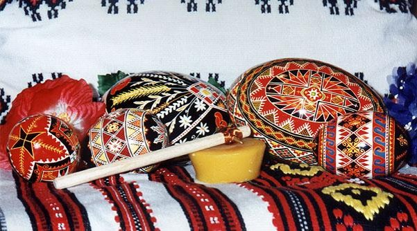 Image - Ukrainian Easter eggs at the Surma store in New York.