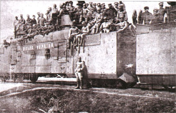 Image - Ukrainian Galician Army armoured train Vilna Ukraina (Stanyslaviv 1919).
