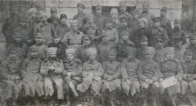 Image - The Supreme Command of the Ukrainian Galician Army (Khodoriv 1919). Sitting, 5th through 7th from left, Gen Mykhailo Omelianovych-Pavlenko, Col Viktor Kurmanovych, Otaman Alfred Schamanek.
