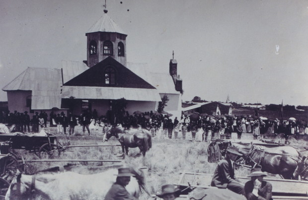 Image - Ukrainian church in Azara, Misiones, Argentina (1915).