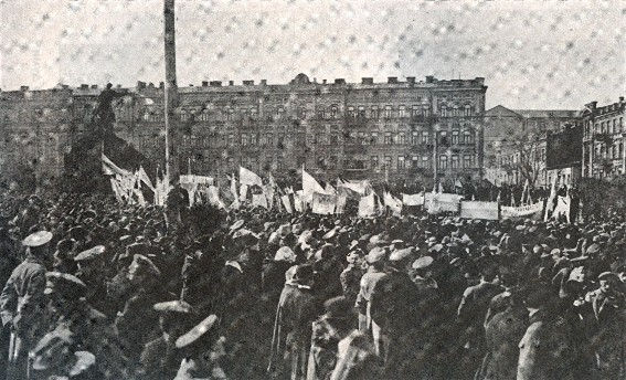 Image - A manifestation of the supporters of Ukrainian national revolution in Kyiv (1918).