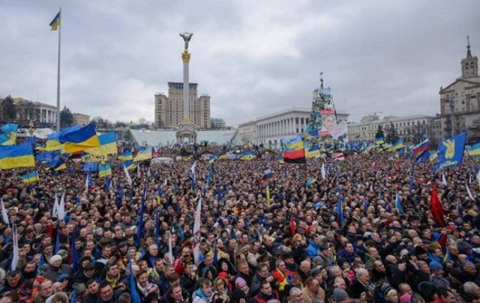 Image - Ukrainians during the Revolution of Dignity (Kyiv 2014).