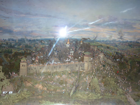 Image -- A reconstruction of the Uman fortress in the Uman Regional Studies Museum.