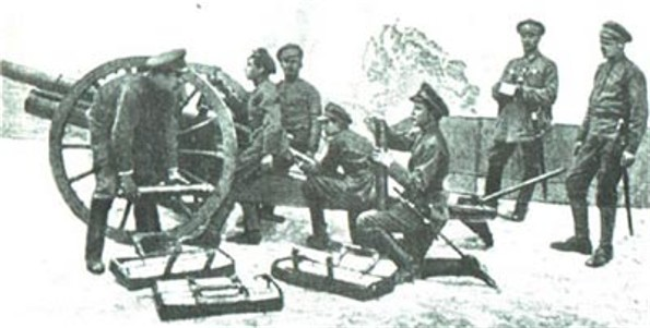Image -- An artillery unit of the UNR Army.