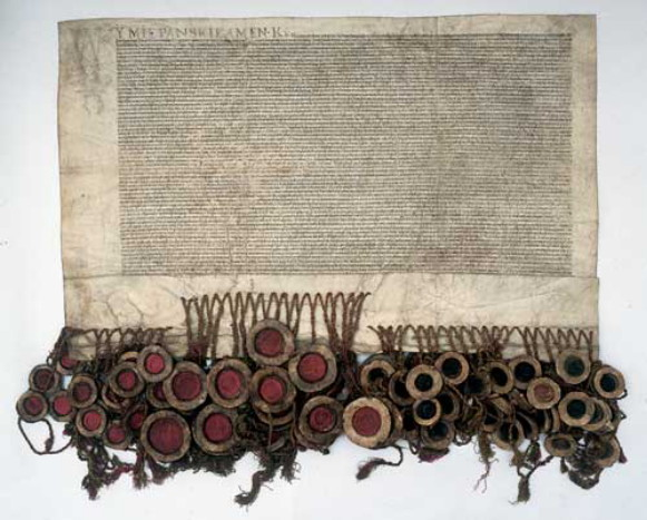 Image - The document of the Union of Lublin of 1569.