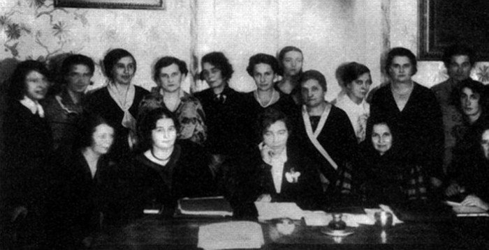 Image - Union of Ukrainian Women presidium (with Milena Rudnytska in the centre)