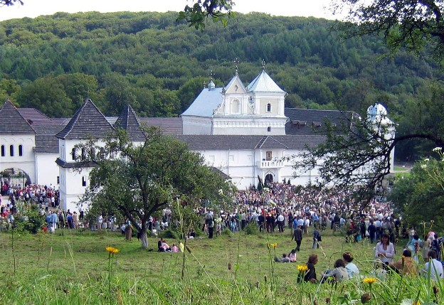 Image - A view of the Studite Fathers' monastery in Univ, Lviv oblast.
