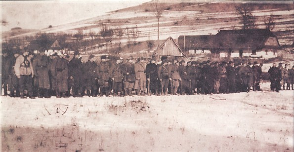 Image -- The Burlaky company of the Ukrainian Insurgent Army (Peremyshl region, winter 1946) (photo from Litopys Ukrains'koi Povstans'koi Armii).