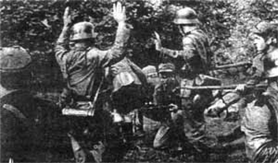 Image -- UPA insurgents with captured German soldiers.