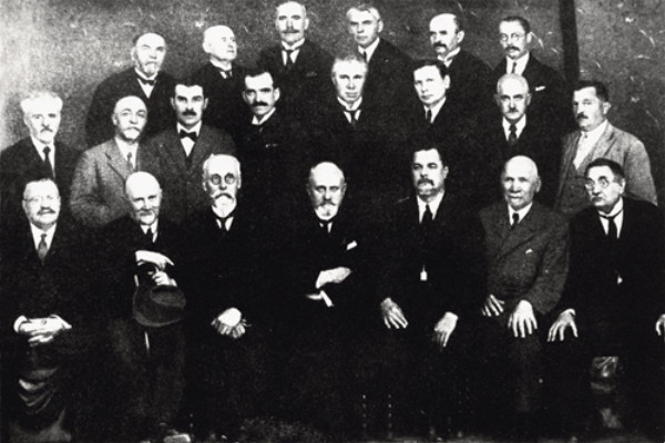 Image - Ukrainian Free University professors in Prague (1926).