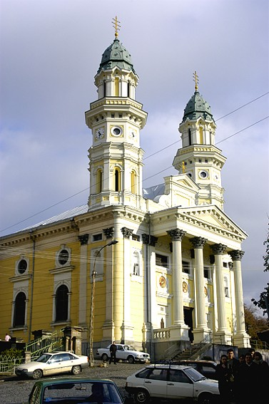 Image - Ukrainian Greek Catholic Cathedral of the Elevation of the Cross (1780) in Uzhhorod.