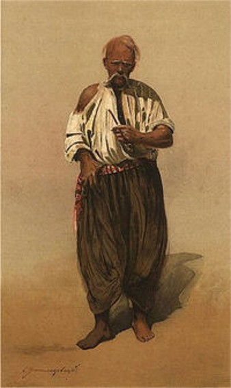 Image - Serhii Vasylkivsky: An Old Man in the Zaporozhian Sich (1890).