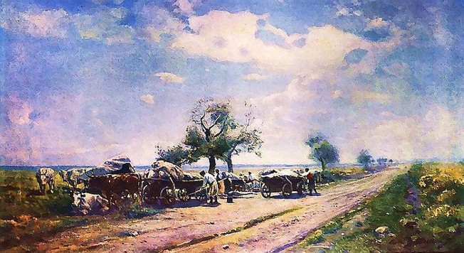 Image - Serhii Vasylkivsky: Chumaks on the Road.