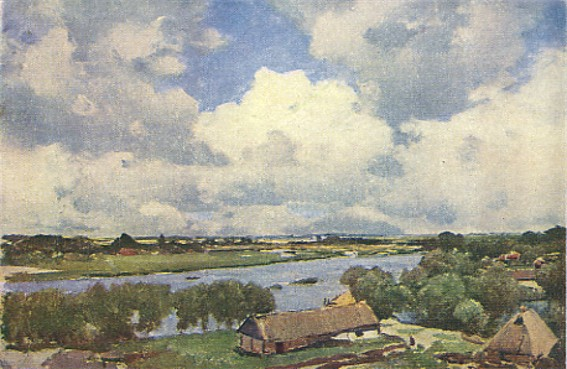 Image - Serhii Vasylkivsky: Village by the River (1900).