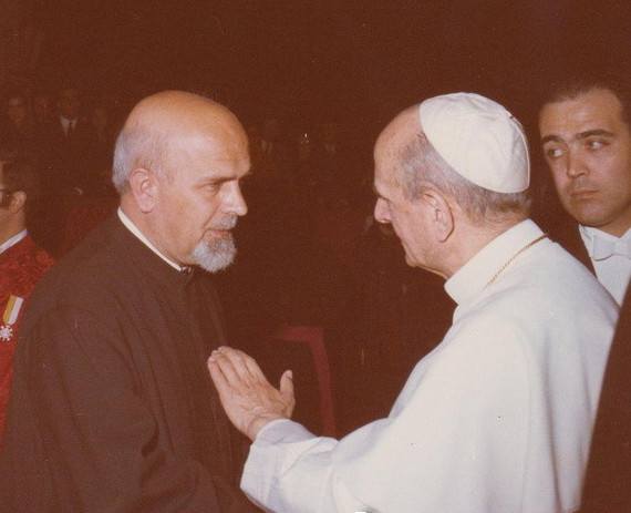 Image - Atanasii Velyky with Pope Paul VI.