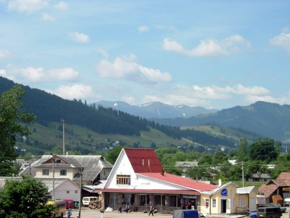 Image - The town of Verkhovyna in the Carpathian Mountains.