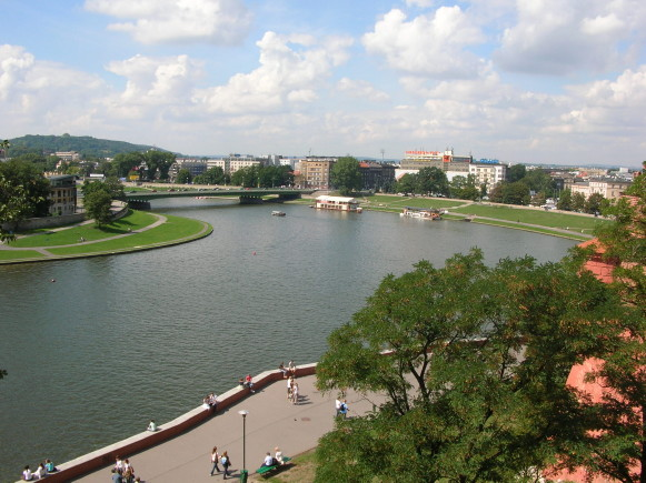 Image - The Vistula River in Cracow.