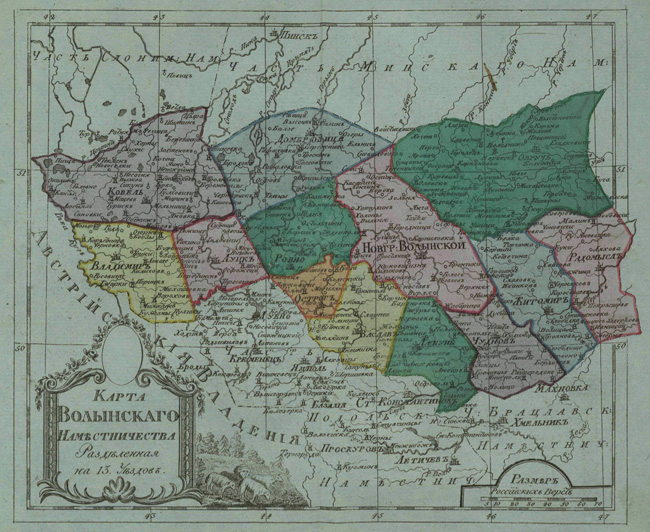 Image - Map of Volhynia vicegerency
