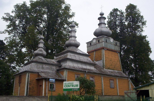 Image -- St Archangel Michaels Greek-Catholic (now Orthodox) Church in Vysova (Wysowa).