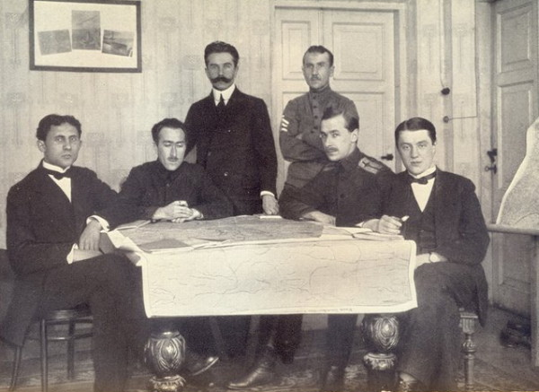 Image - The Ukrainian delegation at the signing of the Treaty of Warsaw.