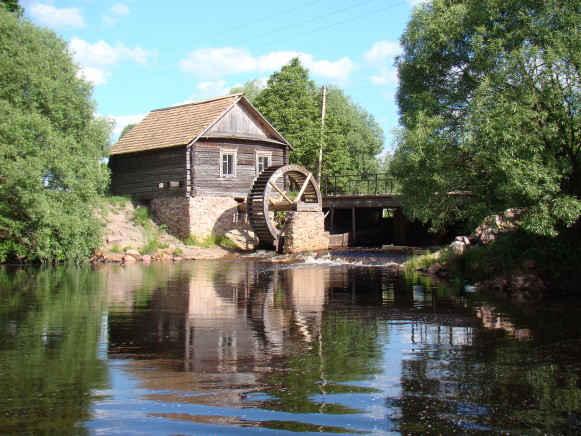 Image - A watermill in the Polisia Nature Reserve.