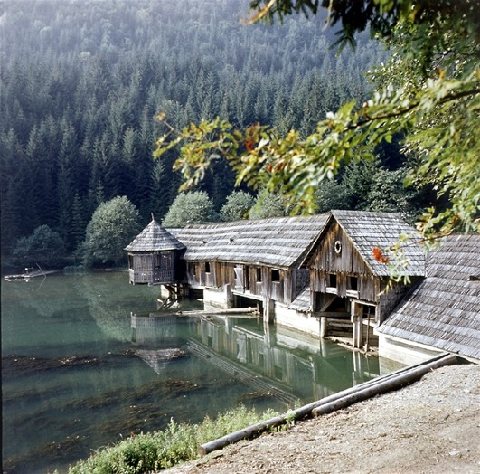 Image - The Wood-rafting Museum near the Synevyr Lake, near Mizhhiriia in Transcarpathia.
