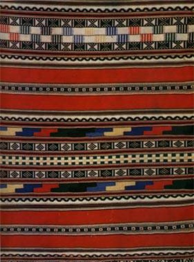 Image - A hand-woven Ukrainian rushnyk (decorative towel).