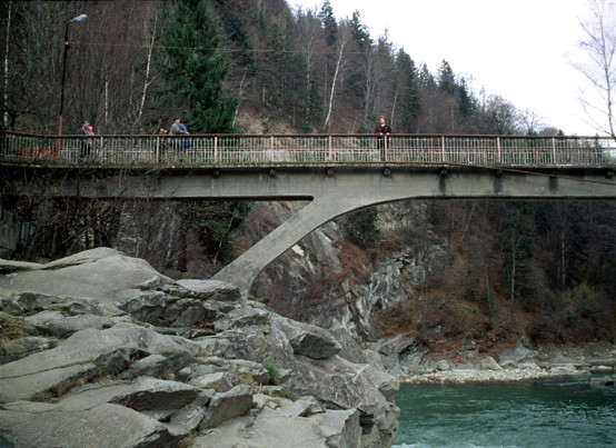 Image -- Bridge over the Prut River near Yaremche.