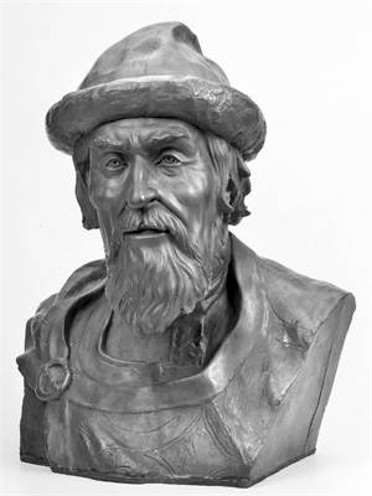 Image - A sculpture of Yaroslav the Wise made on the basis of his skull (by M. Herasymiv).