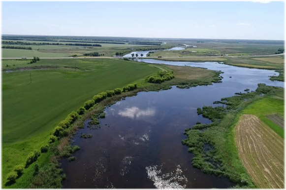 Image - A view of the Yeia River in the Kuban region.