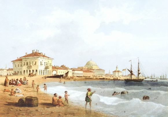 Image - A View of Yevpatoriia (by Carlo Bossoli, 1856).
