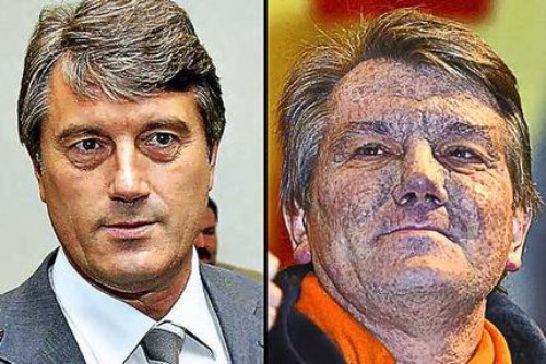 Image - Viktor Yushchenko (before and after his poisoning).