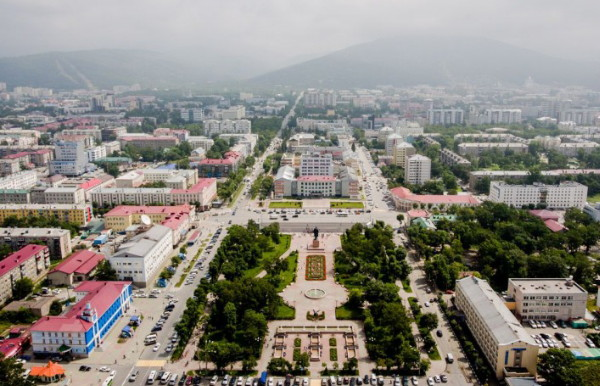 Image - Yuzhno-Sakhalinsk on the Sakhalin Island in the Far East.