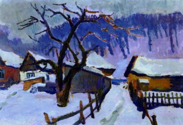 Image - Vasyl Zabashta: Winter Twilight (1974).