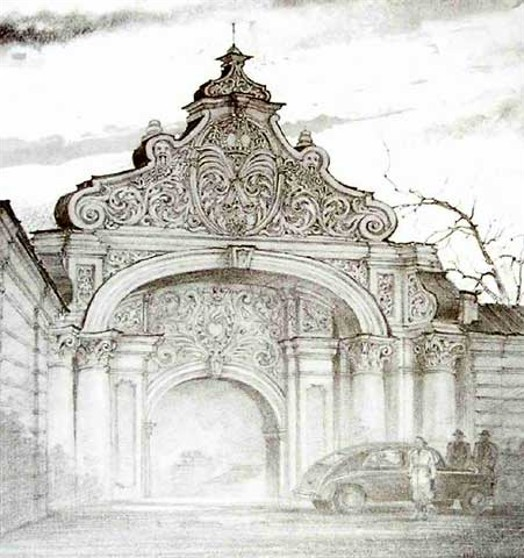 Image - The Zaborovsky Gate (1940s engraving).