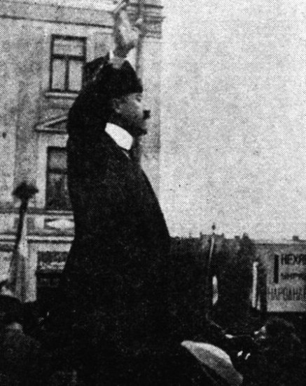Image - Volodymyr Zahaikevych (at a rally in 1918).