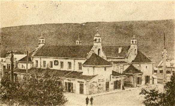 Image - Town hall in Zalishchyky on an old postcard (early 20th century).