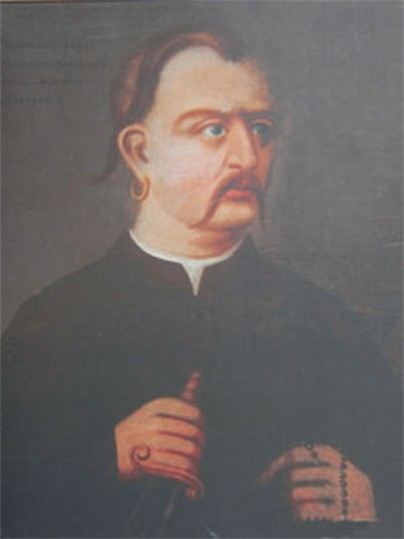 Image - An annonymous portrait of Maksym Zalizniak.