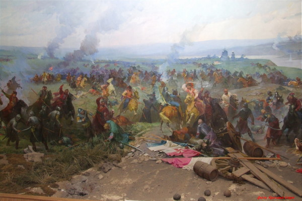 Image - A diorama of the Battle of Zboriv by Stepan Nechai.