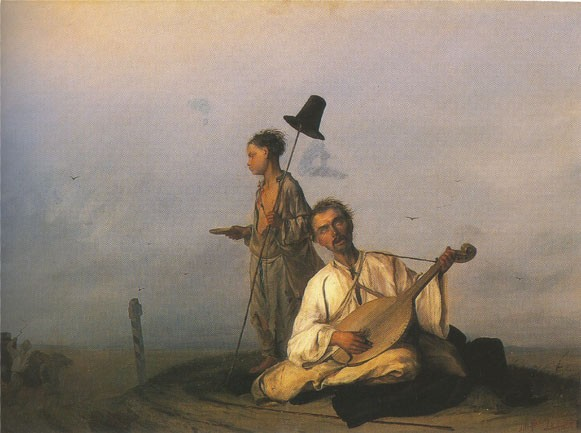 Image - Lev Zhemchuzhnikov: Kobzar by the Road (1854).