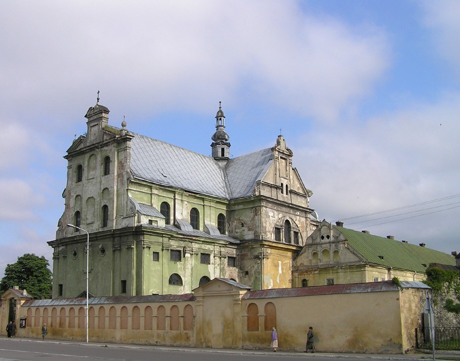 Image - A Dominican church and monastery (17th century) in Zhovkva, Lviv oblast.
