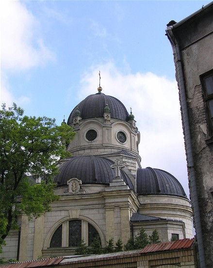 Image -- Saint Parasceva Church of the Basilian monastery complex in Zhovkva, Lviv oblast.