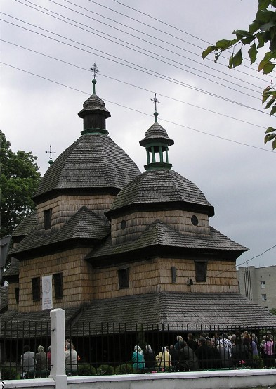 Image - The Trinity Church (18th century) in Zhovkva, Lviv oblast.