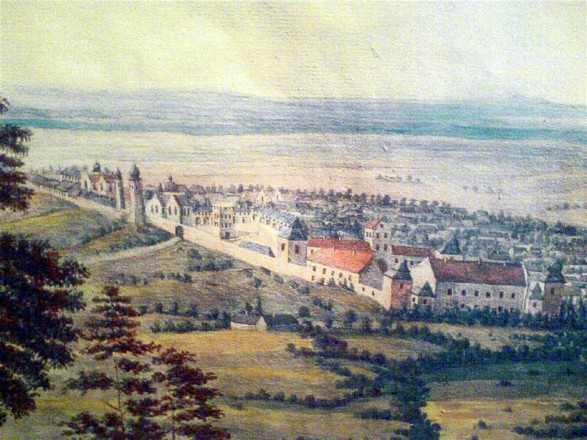 Image - A view of Zhovkva on 18th-century Kronbach watercolor.