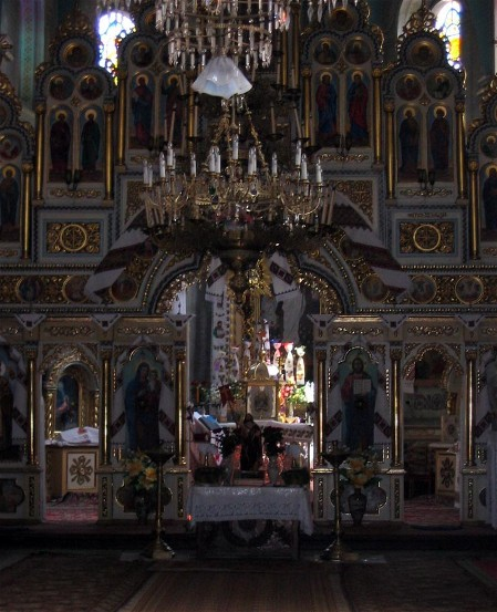 Image - Zolochiv: Interior of the Church of the Resurrection (1604).